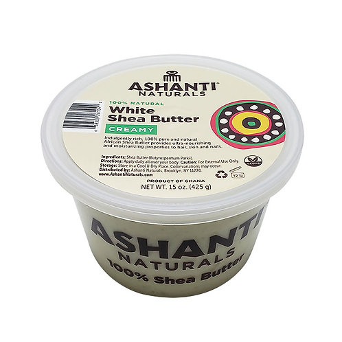 ASHANTI Creamy White Shea Butter 15oz