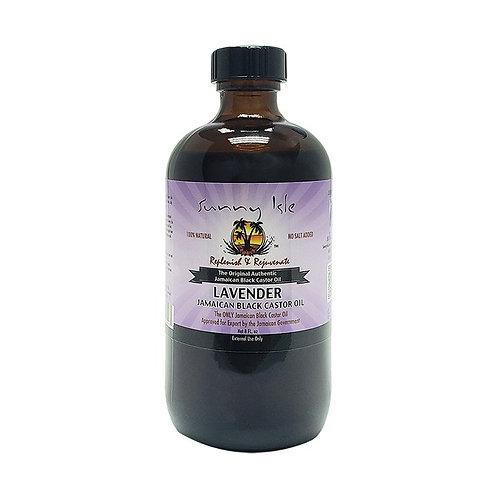 SUNNY ISLE Lavender Black Castor Oil 8oz