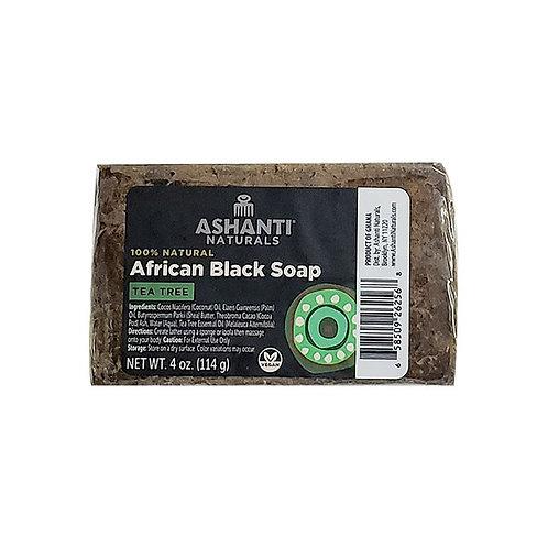 ASHANTI Black Soap Bar - Tea Tree 4oz
