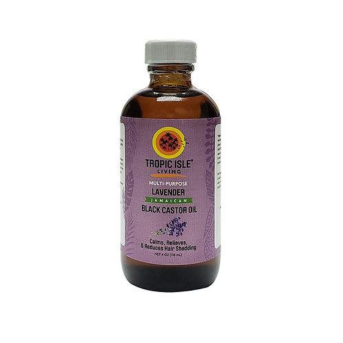 TROPIC ISLE Lavender Black Castor Oil 4oz