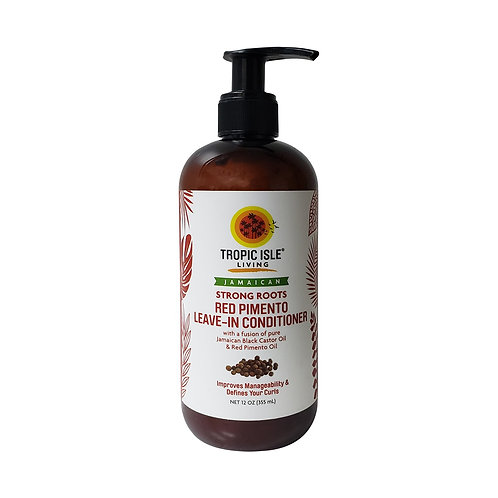 TROPIC ISLE Strong Roots Red Pimento Leave-In Condi 12oz