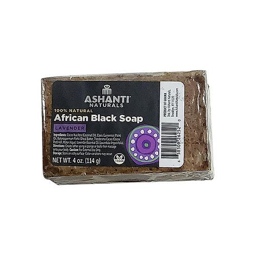 ASHANTI Black Soap Bar - Lavender 4oz