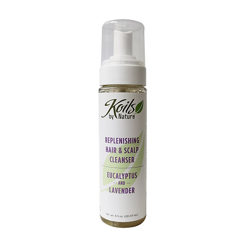 KOIL'S Replenishing Hair & Scalp Cleanser - Eucalyptus & Lavender 8oz