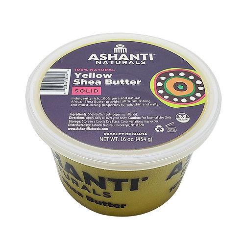 ASHANTI Solid Yellow Shea Butter 16oz