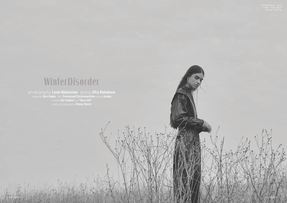 ISSUE 4 MAGAZINE | Liron Weissman | Ofry Beladona | Ben Kader | Emanuelle Chicpotriech | Ofir Kedem | לירון ויסמן צלמת אופנה | עופרי בלהדונה | בן קדר | עמנואל שישפוטריש