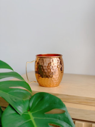 Copper Essential Copper Mug - 450ml (Hammer D Brass Handle)