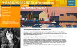Fine Arts Work Center Website