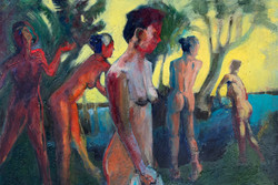 Marc-Kundmann-Bathers-by-the Lake