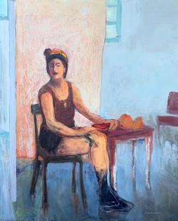 Kundmann-Woman-in-a-Summer-Cafe