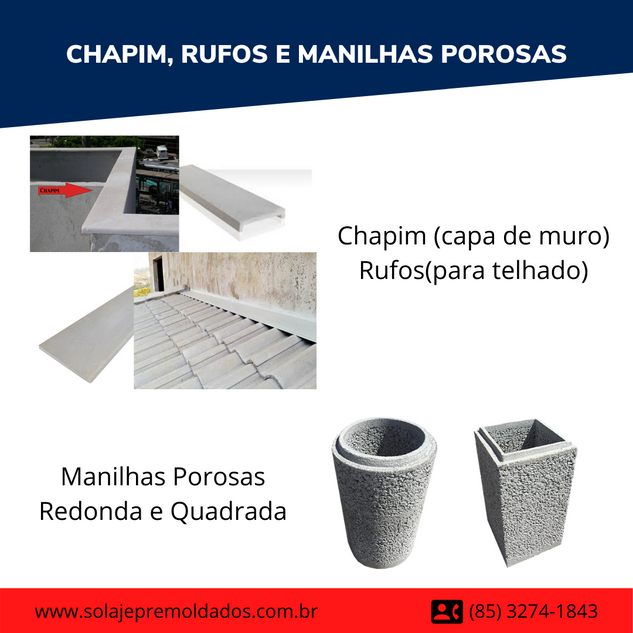 CHAPIM / RUFOS E MANILHAS POROSAS