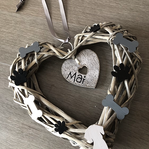 Personalised Dog Lover Wreath