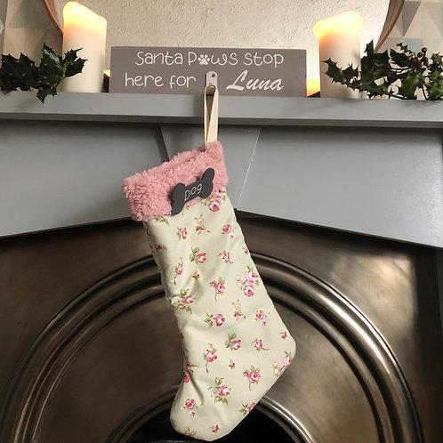 Handmade Fabric Personalised Stocking