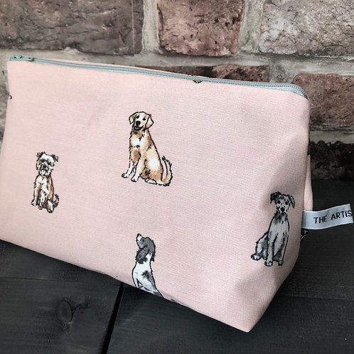 Handmade Doggy Wash Bag (pink)