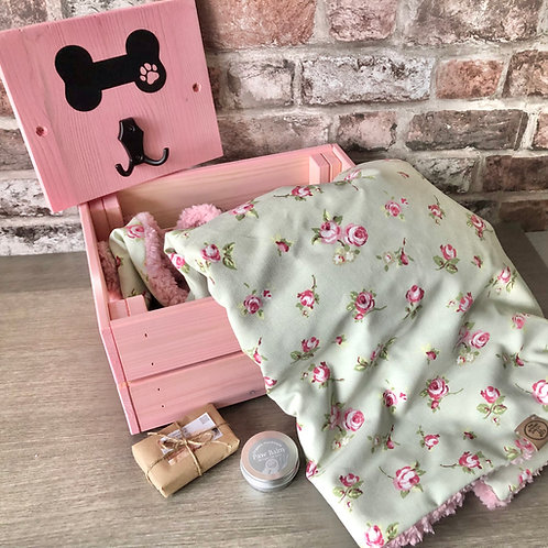 Luxury Handcrafted Personalised Dog Hamper (The Dolly Collection)