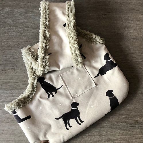 Handcrafted, luxury puppy/small dog carrier