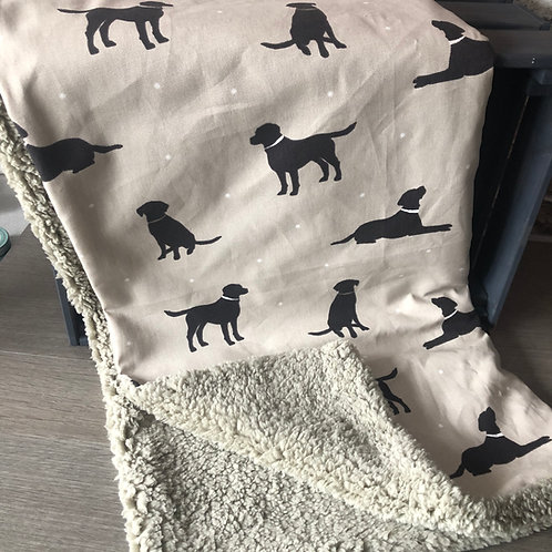 Handcrafted Luxury Dog Blanket, double sided