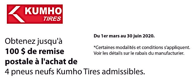 Promo printemps Kumho Tires_Plan de trav