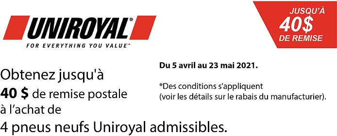 Promo printemps Uniroyal 40$ 2021.png