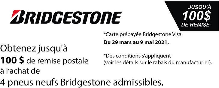 Promo printemps Bridgestone 100$ 2021.pn