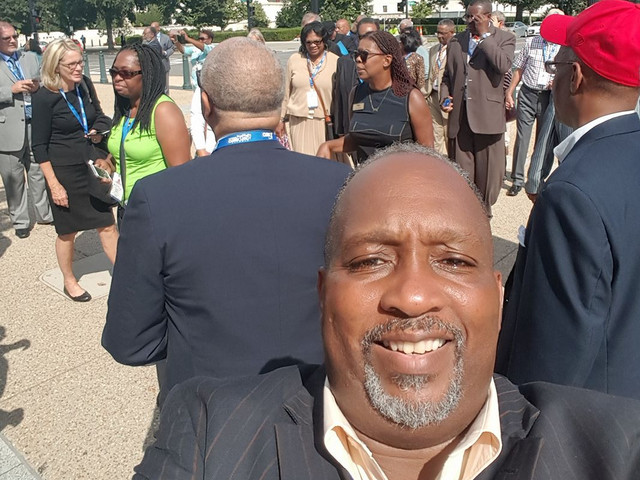 Picture in front of the U. S. Supreme Courthouse. With Star Parker and the CURE foundation! There is power in the name of Jesus!!!