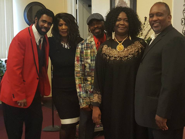 Phil & Brenda Nicholas, Minister & Prophetess Wayne & Dr. Patricia and Bishop Gale Oliver after a powerful worship service in The LORD at Greater Light!
