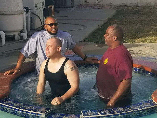Brother Josh being Baptized
