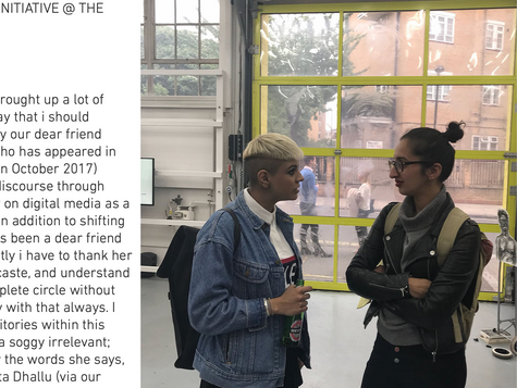 The White Pube | Working Practices: A Collaboration with Clark House Initiative @ The Showroom by The White Pube x Seema Mattu [2018]