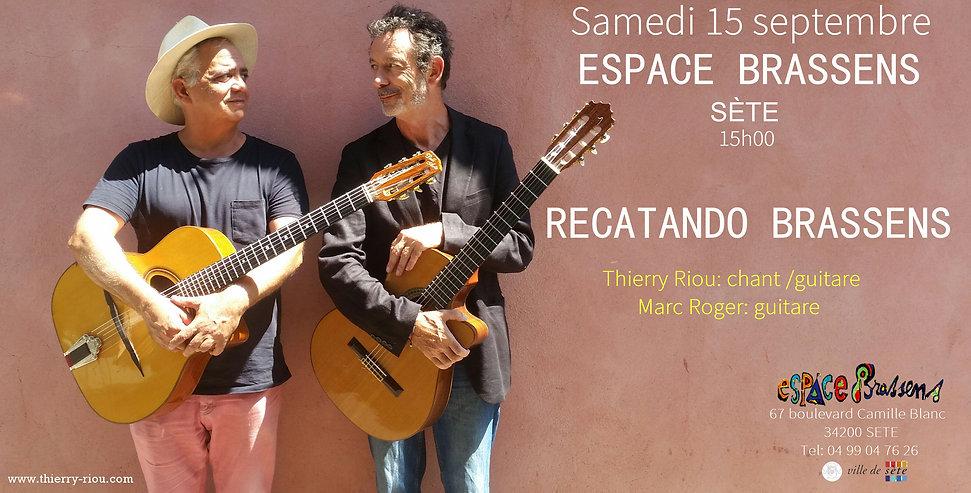 Thierry Riou et Marc Roger Espace Brassens, sète