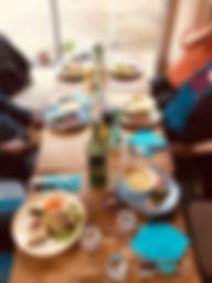 Déjeuner au restaurant Lunas, chez Olivia