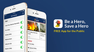 NFFF 'Be a hero, Save a hero' Fire Safety App