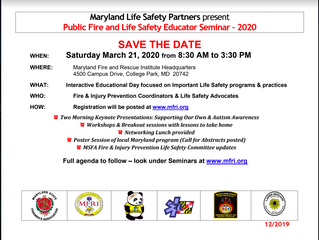 Save the Date! Public Fire and Life Safety Educator Seminar in March 2020
