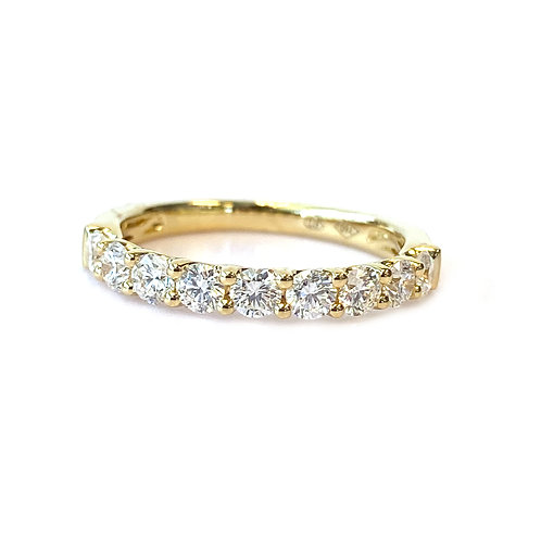 U-GALLERY STYLE STACKABLE BAND WITH 0.64CT ROUND DIAMOND IN 18KT YELLOW GOLD