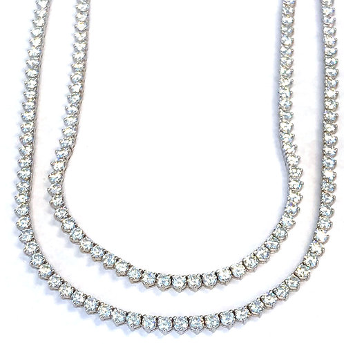 36.21 CT. DOUBLE DIAMOND TENNIS NECKLACE