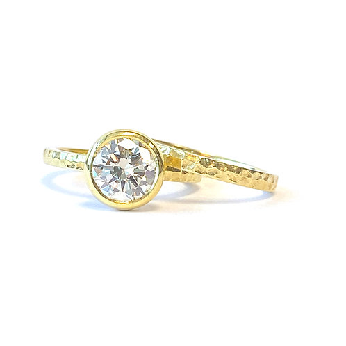 1.28CT. ROUND DIAMOND BEZEL STYLE WEDDING SET