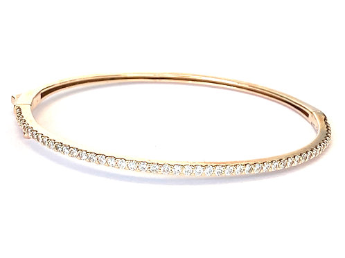 1.11CT. ROSE GOLD DIAMOND BANGLE BRACELET