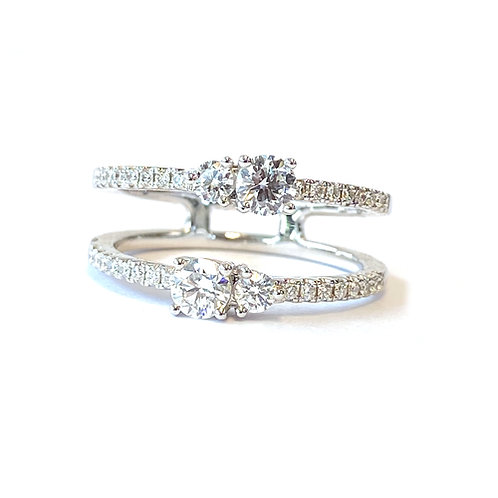 0.75CT. ROUND DIAMOND OPEN SHANK FASHION RING