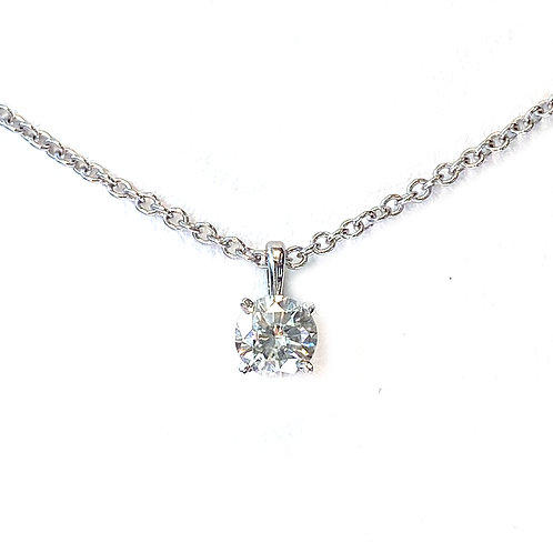 0.57CT. ROUND DIAMOND SOLITAIRE PENDANT