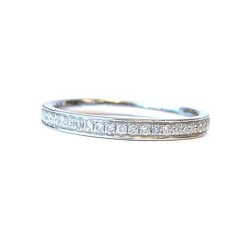 PLATINUM CLASSIC ROUND DIAMOND BEAD SET STYLE BAND
