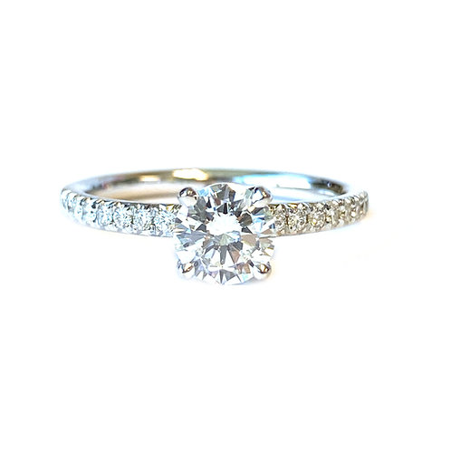 0.70CT. GIA ROUND DIAMOND ENGAGEMENT RING IN 18KTWG