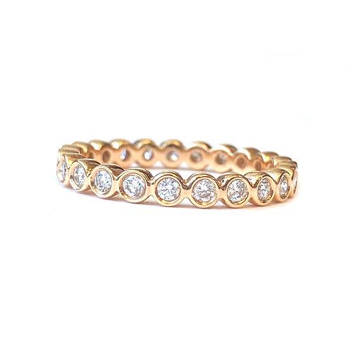 0.46CTTW. BEZEL SET DIAMOND ETERNITY BAND 18KTRG SIZE 4.25