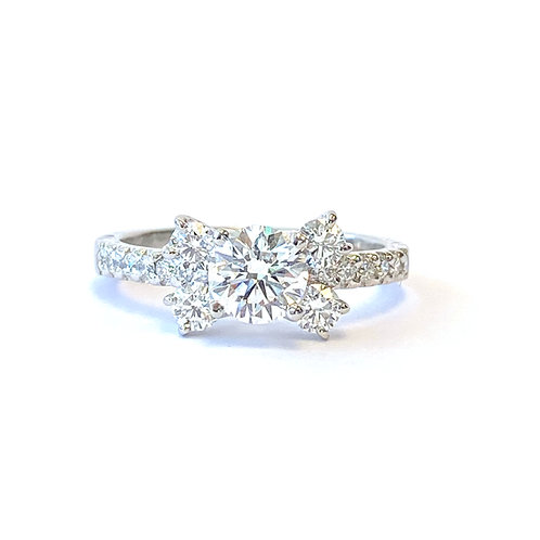 1.14CT. ROUND DIAMOND ENGAGEMENT RING