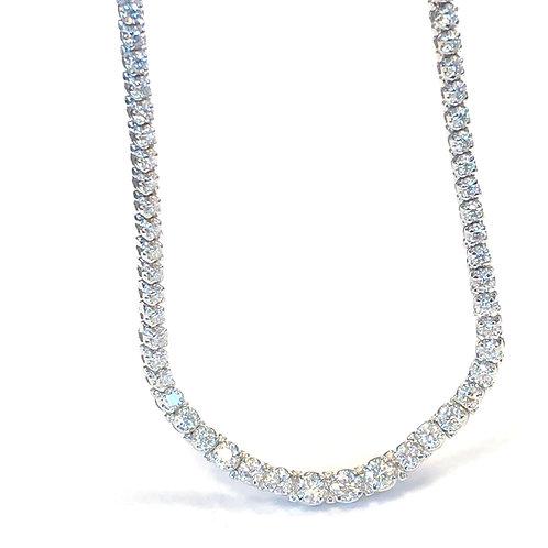 11.00CT. GRADUATED DIAMOND TENNIS NECKLACE