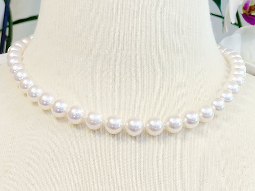 """9.5-10MM A QUALITY JAPANESE AKOYA PEARL NECKLACE 17.5"""""""