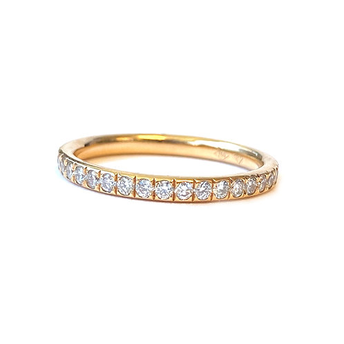 18KTRG PAVE SET COMFORT FIT DIAMOND ETERNITY BAND