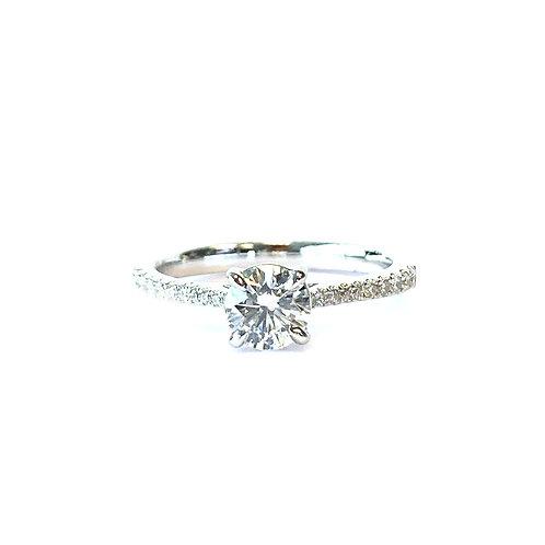 0.51CT. GIA E VS1 ROUND DIAMOND ENGAGEMENT RING IN PLATINUM