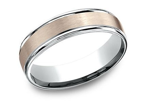 Benchmark® 6MM TWO-TONED GOLD MEN'S BAND SIZE 8.5