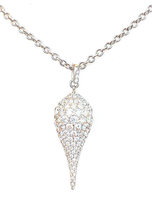 3.03 CT. PAVE DIAMOND RAINDROP PENDANT