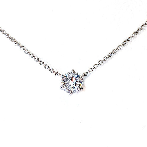 0.58CT. CLASSIC 6-PRONG SOLITAIRE NECKLACE