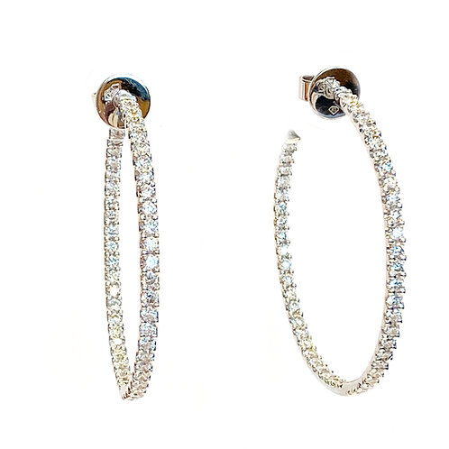 4.22CT. LARGE CLASSIC DIAMOND INSIDE-OUT HOOP EARRINGS