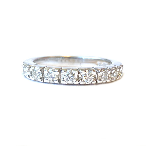 0.64CT. ANNIVERSARY STYLE DIAMOND BAND 14KTWG